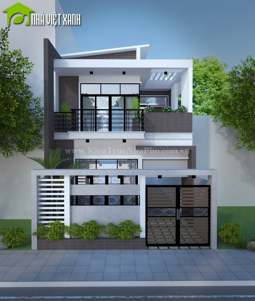 Thiết kế nhà phố mặt tiền 7m tại Đồng Tháp 2