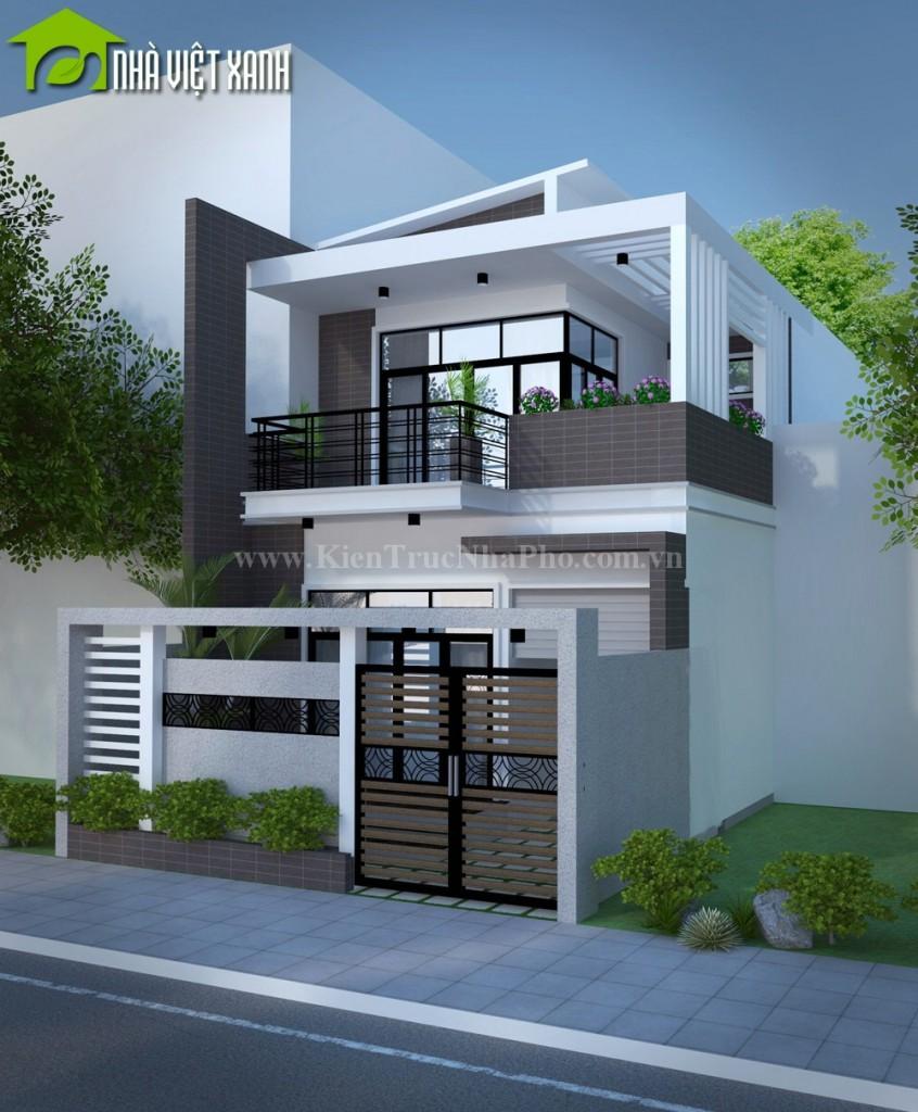 Thiết kế nhà phố mặt tiền 7m tại Đồng Tháp 3