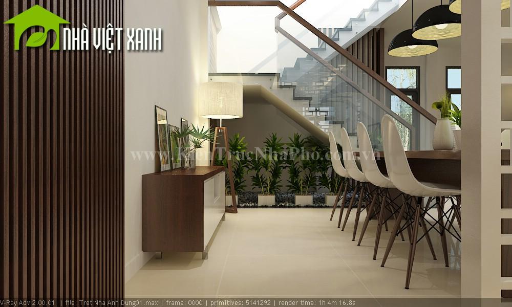 Thiết kế nhà phố mặt tiền 7m tại Đồng Tháp 9