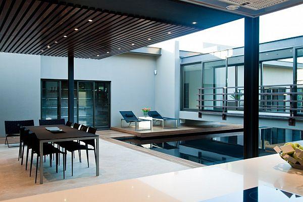 Thiết kế biệt thự có bể bơi trong nhà siêu hiện đại 10