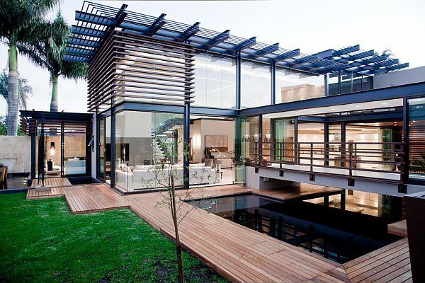 Thiết kế biệt thự có bể bơi trong nhà siêu hiện đại 2
