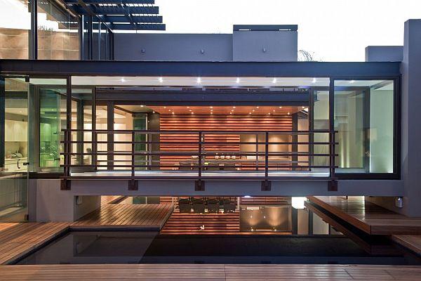 Thiết kế biệt thự có bể bơi trong nhà siêu hiện đại 3