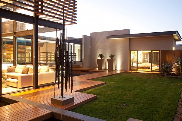 Thiết kế biệt thự có bể bơi trong nhà siêu hiện đại 4