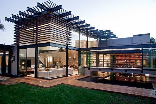 Thiết kế biệt thự có bể bơi trong nhà siêu hiện đại
