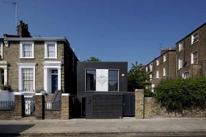 Thiết kế nhà phố nhỏ đẹp với gạch tối màu