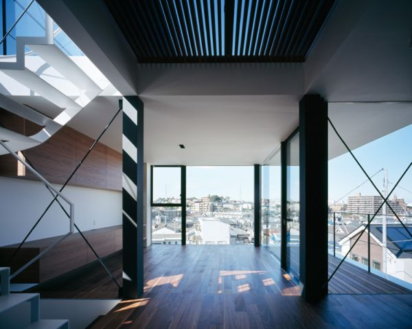 Mẫu nhà phố 3 tầng trên một sườn đồi ở Tokyo , Nhật Bản. 4