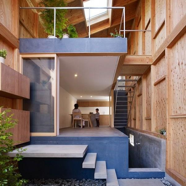 Mẫu nhà phố hòa hợp với thiên nhiên ở Nhật Bản 2