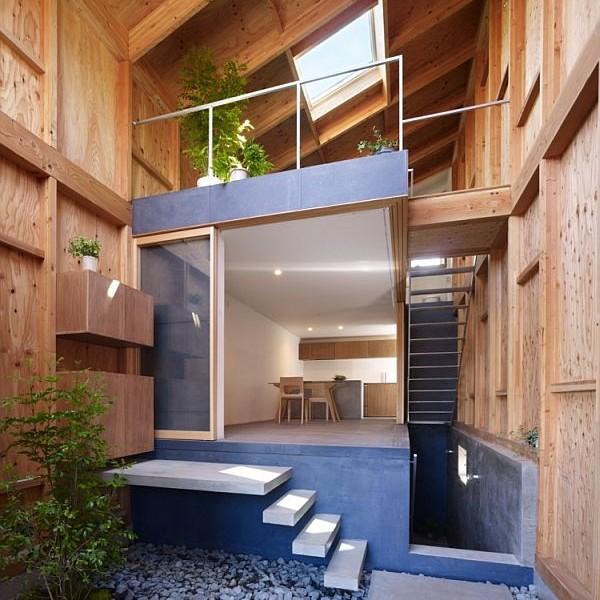 Mẫu nhà phố hòa hợp với thiên nhiên ở Nhật Bản 3