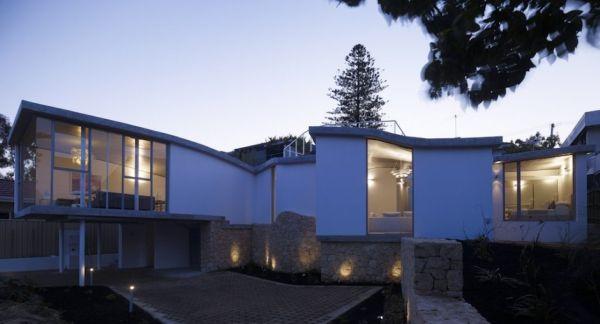 Mẫu thiết kế biệt thự đẹp hướng ra sông ở Perth, Australia.