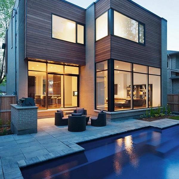 Nhà phố với thiết kế nội thất đẹp ở Ottawa, Ontario, Canada.