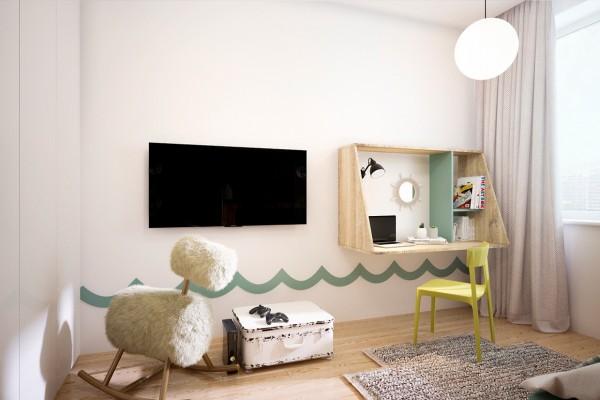 Thiết kế biệt thự cho gia đình trẻ yêu thích vật liệu công nghiệp [19]