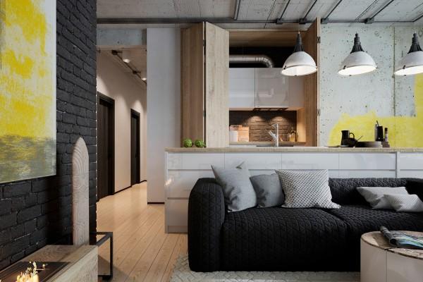Thiết kế biệt thự cho gia đình trẻ yêu thích vật liệu công nghiệp [9]