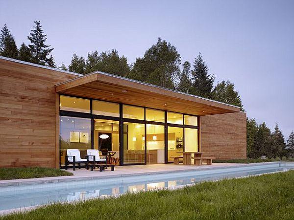Thiết kế biệt thự hiện đại lồng vào thiên nhiên tại USA 2