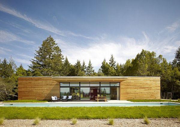 Thiết kế biệt thự hiện đại lồng vào thiên nhiên tại USA