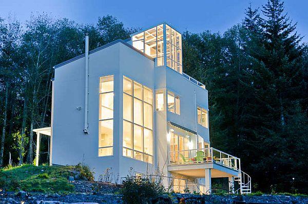 Thiết kế biệt thự lộng lẫy nằm ở dưới chân núi tại Washington, Mỹ