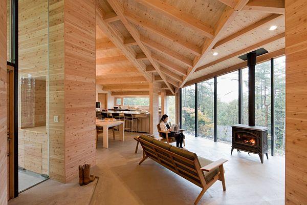 Thiết kế biệt thự xây dựng bằng gỗ ở Nhật Bản 3