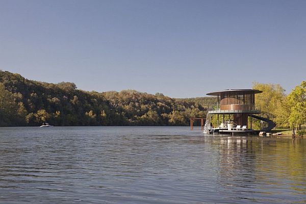 Mẫu thiết kế biệt thự độc đáo trong hồ Austin, Texas, Hoa Kỳ 4
