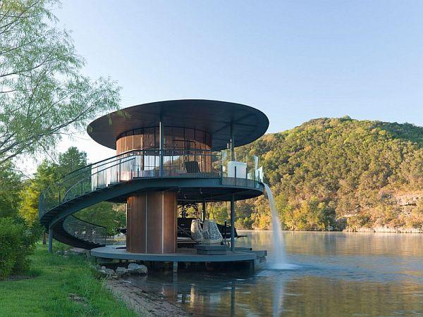 Mẫu thiết kế biệt thự độc đáo trong hồ Austin, Texas, Hoa Kỳ 5