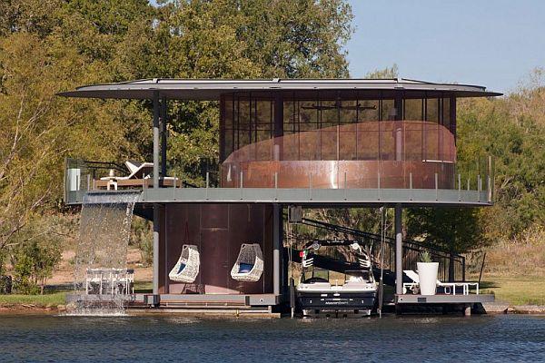 Mẫu thiết kế biệt thự độc đáo trong hồ Austin, Texas, Hoa Kỳ 6