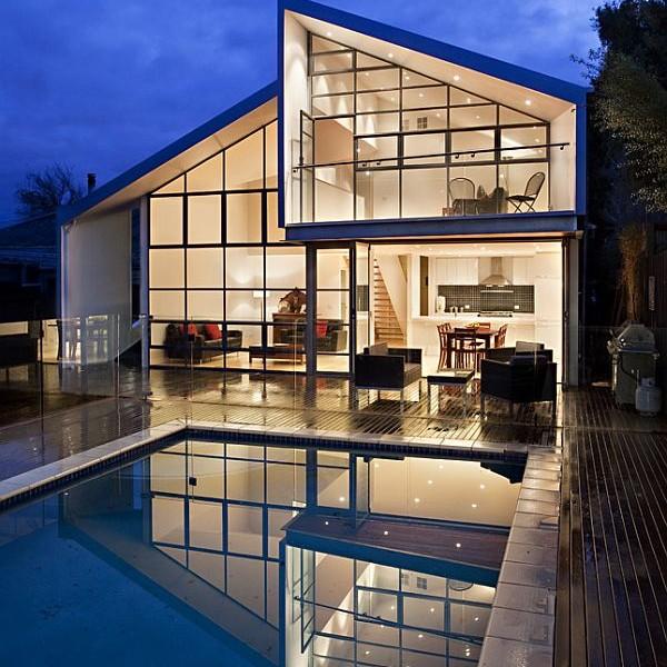 Thiết kế biệt thự 2 tầng mái lệch ở Melbourne, Australia 2