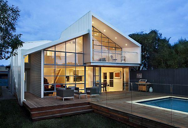 Thiết kế biệt thự 2 tầng mái lệch ở Melbourne, Australia