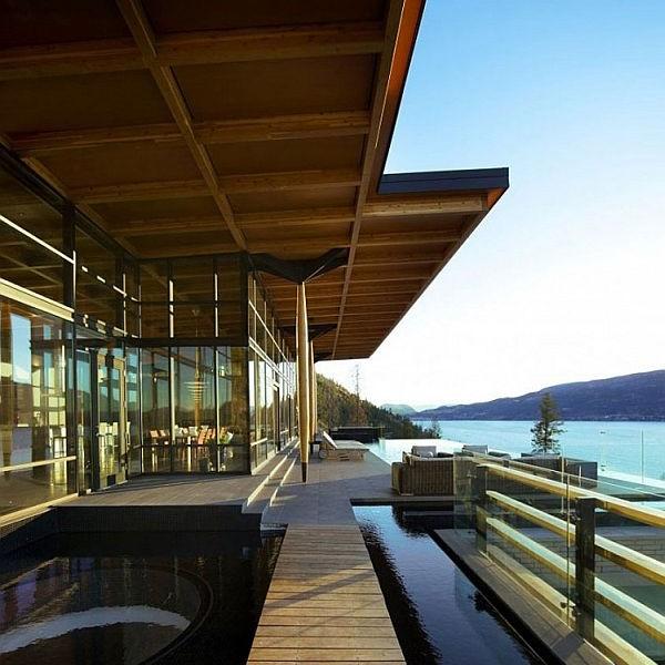 Thiết kế biệt thự ấn tượng nằm bên đồi ở Canada. 2