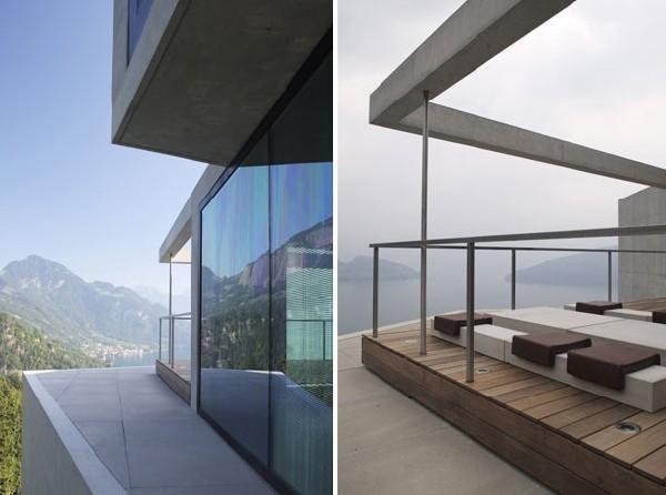 Thiết kế biệt thự phố mái dốc là và độc đáo 3