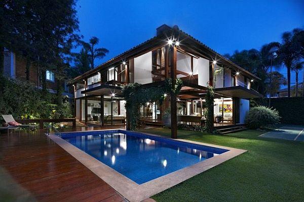 Thiết kế biệt thự tuyệt đẹp có bể bơi ngoài trời ở Brazil 2