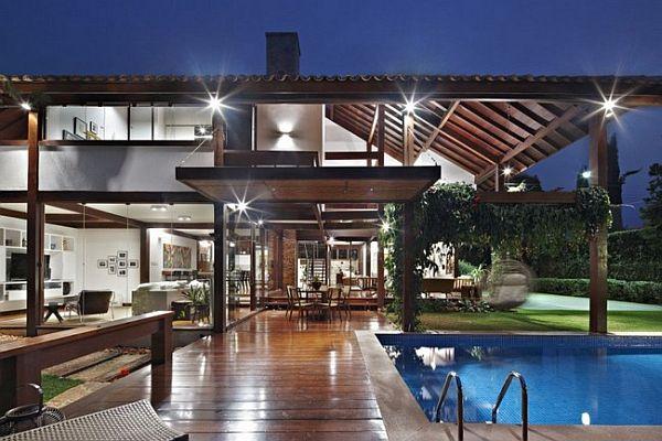 Thiết kế biệt thự tuyệt đẹp có bể bơi ngoài trời ở Brazil 3