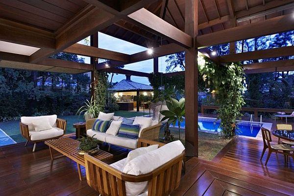 Thiết kế biệt thự tuyệt đẹp có bể bơi ngoài trời ở Brazil 5