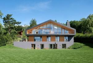 Thiết kế biệt thự xinh tươi màu xanh ở Thụy Sĩ. 4