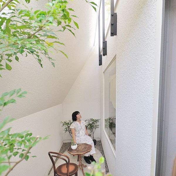 Thiết kế nhà phố như ngọn núi màu trắng ở Nhật Bản 6