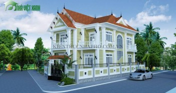 Thiết kế biệt thự 2 tầng kiểu pháp 2