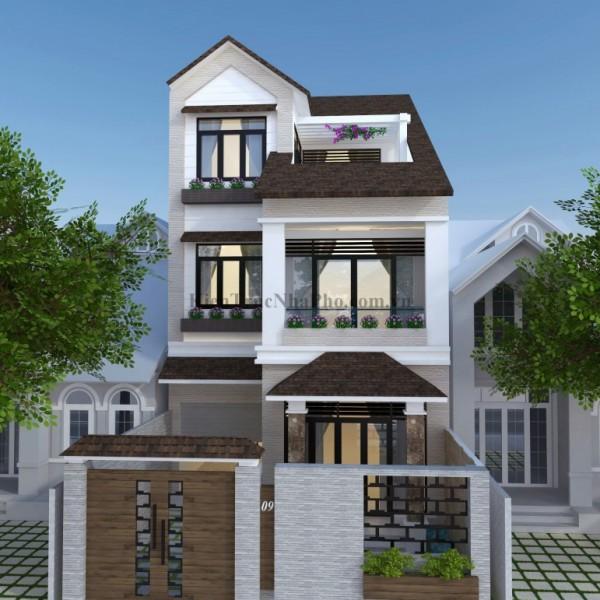 Thiết kế biệt thự 3 tầng tại Bình Dương 2