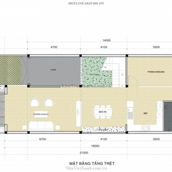 Thiết kế biệt thự 3 tầng tại Bình Dương 4