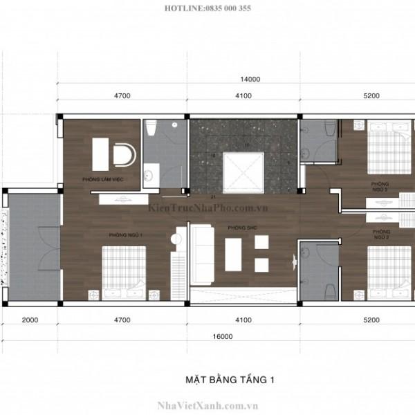 Thiết kế biệt thự 3 tầng tại Bình Dương 5